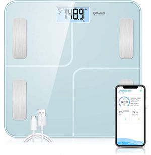 SOKOA Smart Digital Scales for Body Weight Bluetooth Body Composition Scales with USB Charger Bathroom Body Composition Monitor with iOS and Android for Sale in Rancho Cucamonga, CA