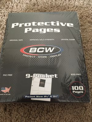 (100) 9 pocket baseball cards sleeves ( new) for Sale in Dublin, OH