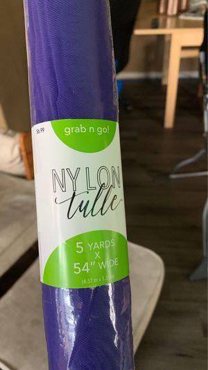 "Purple tulle (20) rolls 5 yards x 54"" wide 4.57 m x 1.37 m for Sale in Henderson, CO"