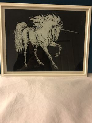 Black and White Unicorn Picture for Sale in Cleveland, OH