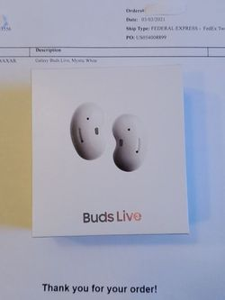 Brand New Sealed Samsung Galaxy Buds Live Wireless Bkuetooth Earbuds Headphones Mystic White for Sale in Lutz,  FL