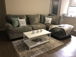 FIRM. Sectional & Swivel Chair sold together OR separate. Read description please :) for Sale in Norcross, GA