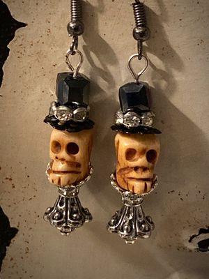 Halloween deadhead bone skull earrings for Sale in Gulf Breeze, FL