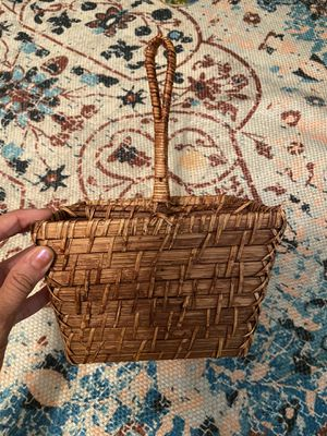 Small wicker boho basket with compartments for Sale in Hendersonville, TN
