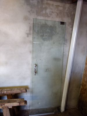 "****Glass shower door 26.5"" wide by 77"" long **** $75 obo MUST PICK UP ASAP!!!! for Sale in Philadelphia, PA"