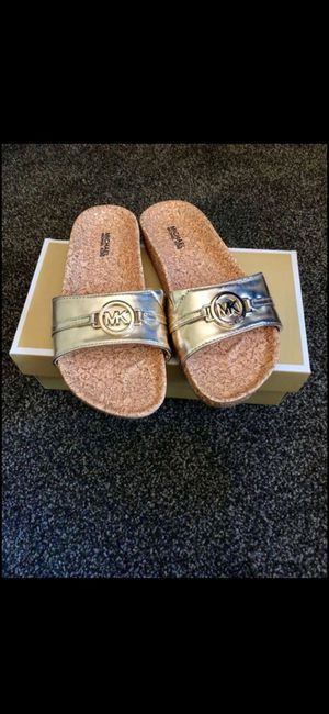 BRAND NEW MICHAEL KORS SLIDES for Sale in Tacoma, WA