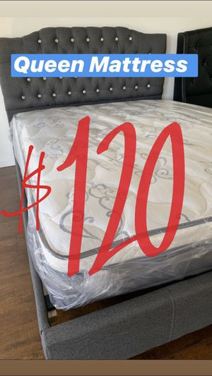 BRAND NEW PILLOW TOP MATTRESSES💯 COLCHONES NUEVOS PILLOW TOP 💯 Queen $120 ❌ $180 With Box Spring 💥💥 FULL SIZE $100 ❌ $150 With Box Spring💥 Twin $8 for Sale in Compton, CA