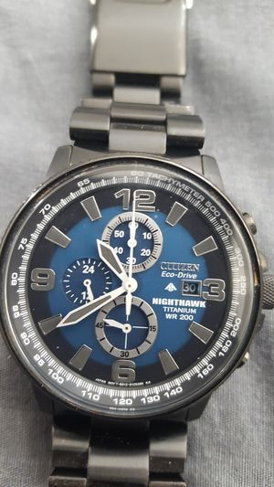 Citizen nighthawk chronograph wr 200 eco drive mens watch for Sale in Palm Bay, FL
