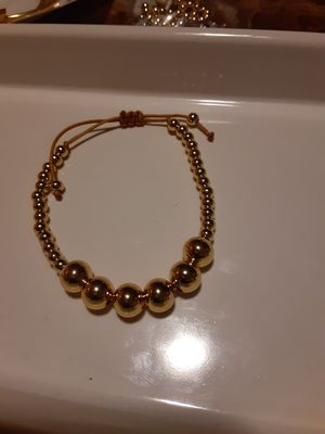 Beautiful gold hadmade bracelet stainless steel for Sale in San Leandro, CA