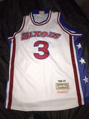 It's a 1996-97 hardwood classic Allen Iverson Jersey made by Mitchell & Ness for Sale in Kingsport, TN