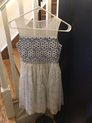 Cute Girls Dress for holidays white lavender/ light blue for Sale in Revere, MA
