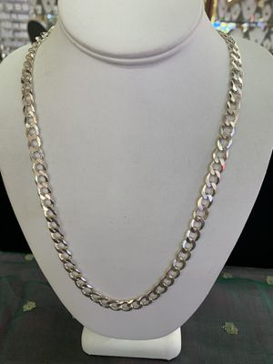 Sterling silver Cuban link chain for Sale in San Angelo, TX