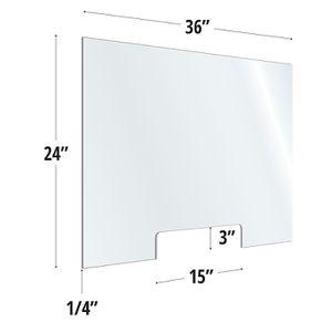 Desktop table top acrylic plexiglass sneeze guard for Sale in Roseville, CA