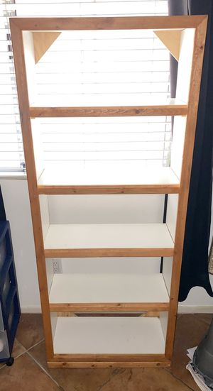 DIY White Wood Bookcase for Sale in Las Vegas, NV