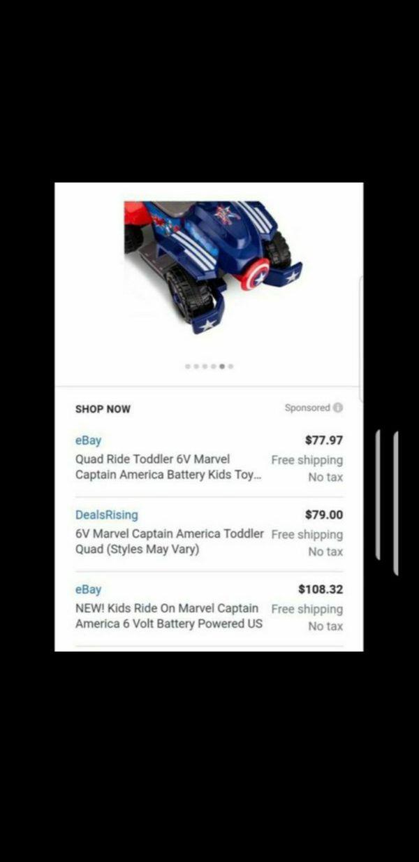6v Captain America Ride on