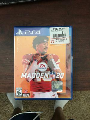 Madden 20 PS4 for Sale in Grand Rapids, MI