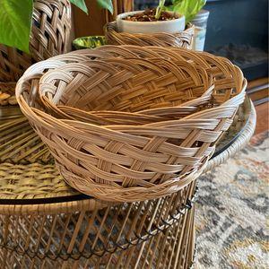 Wicker Wall Baskets Set Of 2 /shelf Decor/plant Holder/storage Baskets (B38) for Sale in Lynwood, CA