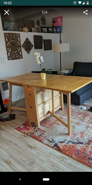 Foldable Wooden Table - Real Wood! for Sale in Seattle, WA