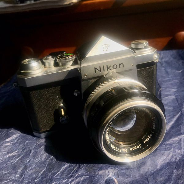 NIKON F | 35mm SLR Film Camera w/ NIKKOR-S AUTO 50mm f/1.4 LENS