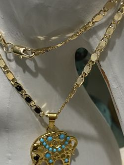 """Elephant Gold Plated Pendant With Chain Necklace 18"""" 3mm for Sale in Nashville,  TN"""