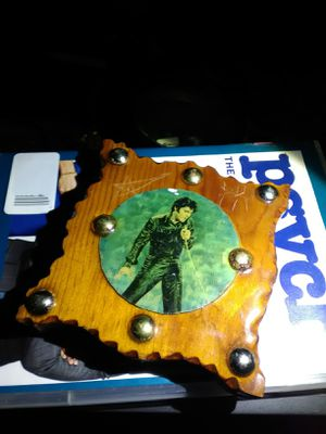 Wooden block with Elvis on it for Sale in Ada, OK