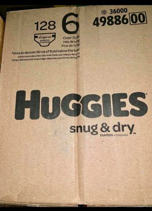 Huggies diapers size 6 snug dry for Sale in Downey, CA