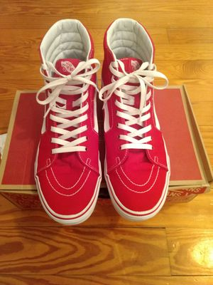 Vans Sk8 Hi Red Size 11.5 for Sale in Sharon, MA