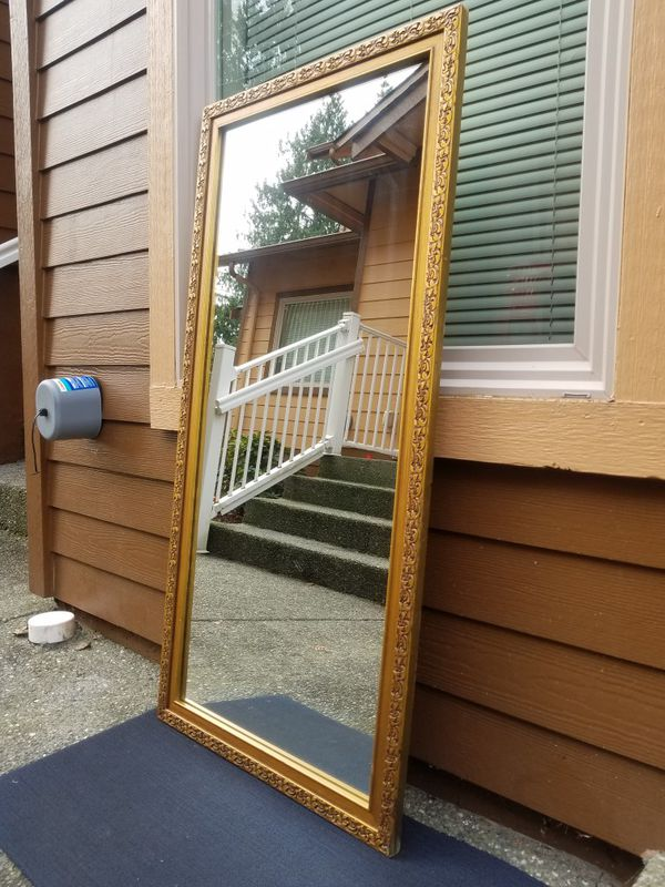 Full-length Large Mirror Antique Gold Heavy