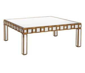 ZGallerie Mirrored and gold coffee table AND matching console $350 for set for Sale in Garden Grove, CA