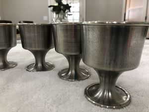 Vintage Swedish Pewter Goblets Cups - Set Of SIX (6) for Sale in Burbank, CA