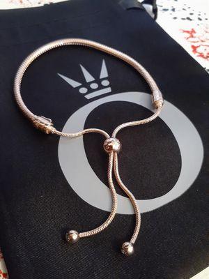New rosegold sliding pandora charm bracelet for Sale in Philadelphia, PA