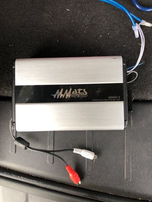 Mmats pro audio amp for Sale in Round Rock, TX