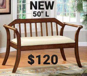 Bench in Dark Oak for Sale in Ontario, CA