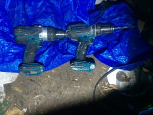 Makita drill and hammer drill 2 battery's and charger for Sale in Salt Lake City, UT