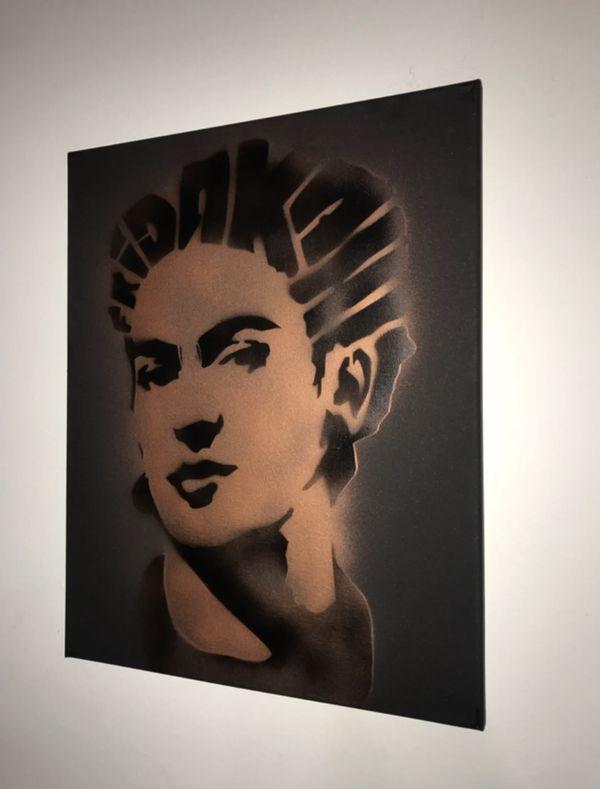 Frida Kahlo 16x20 Graffiti Canvas