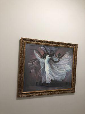 Black art ballerina picture for Sale in Atlanta, GA
