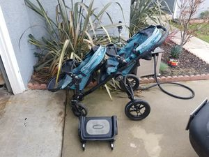 Baby Jogger City Select double stroller with add ons for Sale in Cerritos, CA