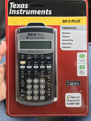 BA II PLUS Texas Instruments Calculator for Sale in Lawrenceville, GA