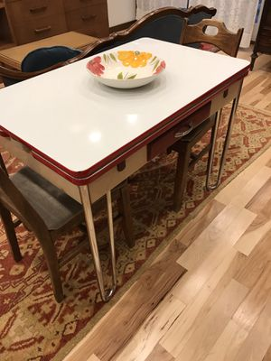 Antique folding porcelain table with leaves for Sale in Chicago, IL