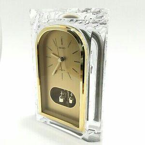 SEIKO Mantel Clock Lead CrystalQQZ127S Beautiful Mantle or Shelf Clock by Seiko for Sale in Los Alamitos, CA