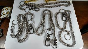 Used, Biker wallet chains Stainless steel for Sale for sale  Anderson, SC