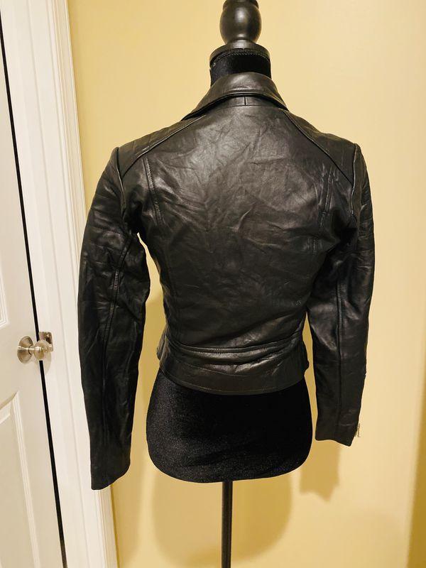 Genuine nappa leather sheep leather crop jacket crop leather jacket biker motorcycle coat trench crop top zipper adjustable