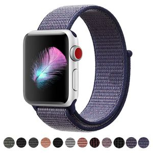 Apple Watch 42mm & 44mm Soft Nylon Sport Hook & Loop Replacement Band Dark Blue for Sale in Chicago, IL