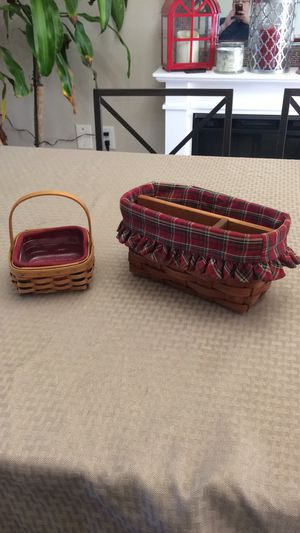 Longaberger baskets $15 good condition set for Sale in Hanover, MD