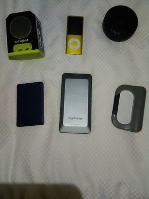 Bluetooth speakers Portable chargers and ipod for Sale in Escondido, CA