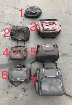 Motorcycle saddlebags, Touring luggage and helmet bag Harley Yamaha Honda Kawasaki Suzuki for Sale in San Diego, CA