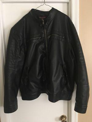 2XL Paulo Solari Faux Motorcycle style Leather Jacket $40 OBO for Sale in Woodbridge, VA