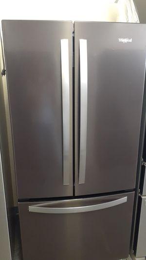 Whirpool black steel 3 doors great deal for Sale in Haines City, FL