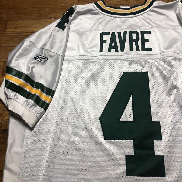 Brett Favre Green Bay Packers Authentic NFL Reebok Vintage Retro Throwback Jersey 56 3XL