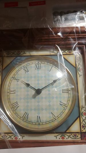 Stained Glass Clock Collectible for Sale in undefined